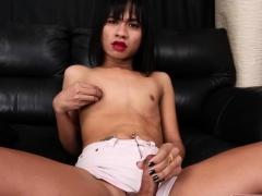 thai-ladyboy-tugging-herself-while-teasing