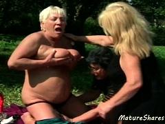 Wild Old Lesbian Outdoor Action