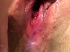 pussy sperm wife's pussy cumming hard again soaking wet