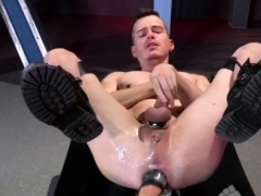 Male Fisting Galleries Gay Axel Abysse Crouches On A