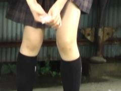 Japanese Student Peeing