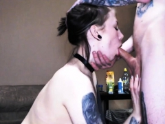 Hot Couple With Tattooed Drilled Each Other On Cam