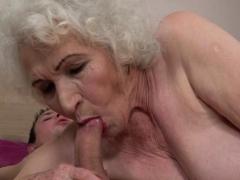 Buxom Granny Facialized