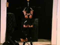 Enslaved Beauteous Babe Tit Torture Sadomasochism