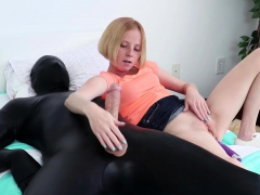 Tiny Redhead Teen Girl Alyssa Hart Takes On A Latex Gimp In