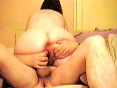 fat assed wife gets her twat plugged