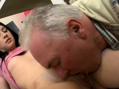 Young Playgirl Licked By An Old Man