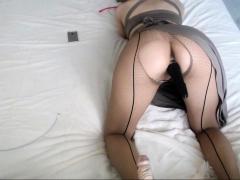 Nylon Panties Wearing Babe Dares You To Jerk