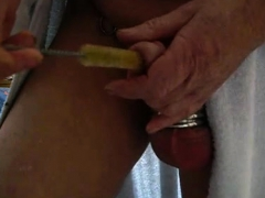 Self Urethra Sounding With Bottlebrush