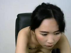 Amateur Asian Teen Camgirl Riding On Dildo On Webcam