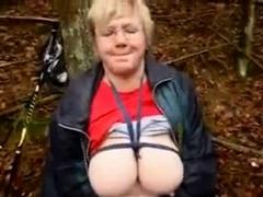 Mature Bysty Slut Masturbating Outdoor