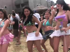 Naughty Girls Have Fun At The Concert