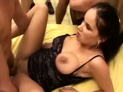 Busty German Teen First Bukkake Orgy