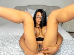 Horny black stepmom Gloria with enormous juicy tits