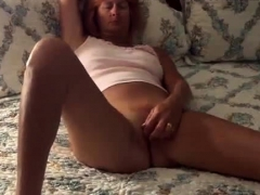 when I returned home she was in bed touching her pussy