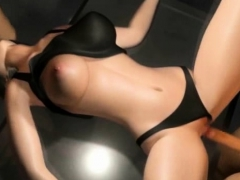 3d sexy woman penetrated from both ends!
