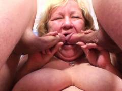 70 yo granny gives double head then banged granny sex movies