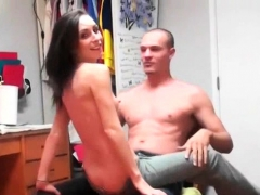 Topless College Brunette Giving Lap Dance