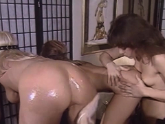 Perfect Ass Lesbian Babes Turn Around For Anal Dildo Fucking