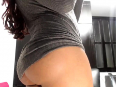 slut girl solo masturbation and striptease 5