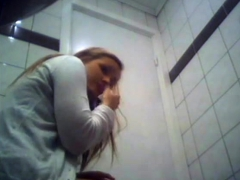 Brunette Amateur Teen Toilet Ass Hidden Cam Voyeur