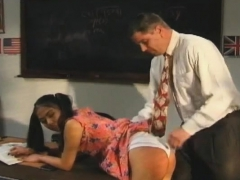 Slender Playgirl Copulates The Teacher