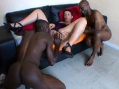 French Mature Sophia Takes 2 Black Cocks