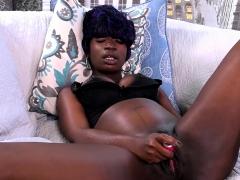 Tiana Grey Plays With Her Ebony Pussy