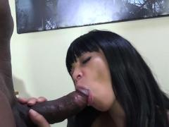 Black Cock Makes A Cute Girl Happy