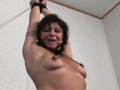 Wet Older Babe Experiences True Hardcore Bondage