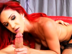 Sexy Red Haired Shemale And Pervert Man Anal Pounding