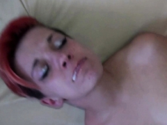 homemade german red hair skinny girl loves spanking swallow