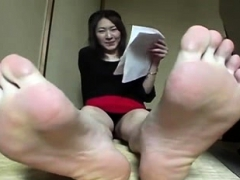 Asian Sexy Feet Foot Fetish Strip Tease