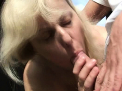 70 Years Old Blonde Granny Is Fucked By A Stranger