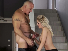 old man cums in slut finally at home, finally alone!
