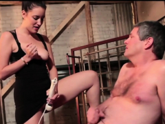 Kinky guy gets his dick punished