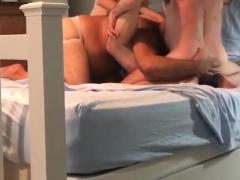 Hot barebacks threesome sex