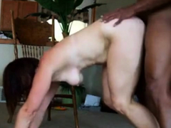 milf moans while riding and taking huge black cock
