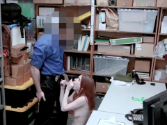 cute redhead bitch shoplifter got caught and punished