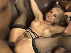 Sexy Blonde Lingerie Babe Wants Anal