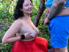 Big Natural Boobs Outdoor