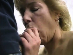Sexy Mature Blonde Blows & Huge Facial Of Thick Cum Stripes Porn Video