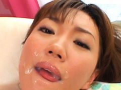 pretty oriental rin gets passion tunnel plowed
