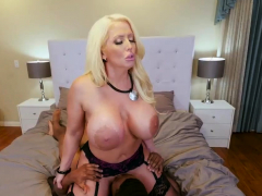 blond horny homemade woman milf nails the gardener