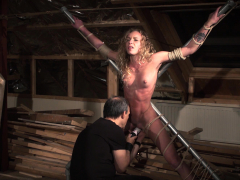 Master Punishes His Teen Curly Slave
