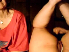 bbw girl and her granny on webcam