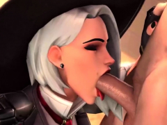 Tight Overwatch Ashe fucked in different positions