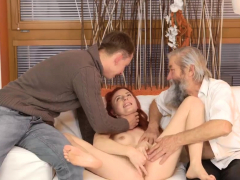 Redhead And Brunette Milf Threesome First Time Unexpected