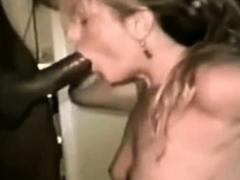 my white wife alice worships my huge black cock