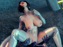 3D sfm superhero Angelita fucked by an alien monster